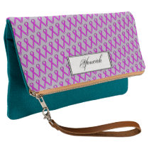 Purple Standard Ribbon by Kenneth Yoncich Clutch