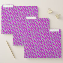 Purple Standard Ribbon by Kenneth Yoncich File Folder