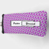 Purple Standard Ribbon by Kenneth Yoncich Golf Head Cover