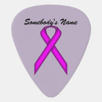 Purple Standard Ribbon by Kenneth Yoncich Guitar Pick