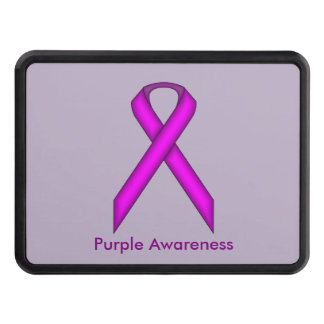 Purple Standard Ribbon by Kenneth Yoncich Hitch Covers