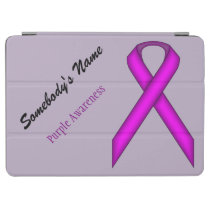Purple Standard Ribbon by Kenneth Yoncich iPad Air Cover