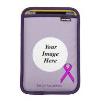 Purple Standard Ribbon by Kenneth Yoncich iPad Mini Sleeve