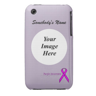 Purple Standard Ribbon by Kenneth Yoncich iPhone 3 Case