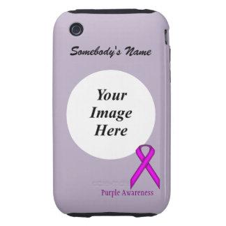 Purple Standard Ribbon by Kenneth Yoncich iPhone 3 Tough Case