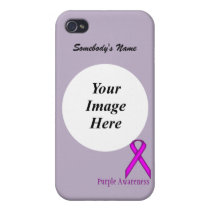 Purple Standard Ribbon by Kenneth Yoncich iPhone 4/4S Case