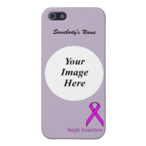 Purple Standard Ribbon by Kenneth Yoncich Case For iPhone SE/5/5s