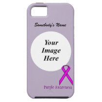Purple Standard Ribbon by Kenneth Yoncich iPhone SE/5/5s Case