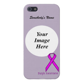 Purple Standard Ribbon by Kenneth Yoncich iPhone SE/5/5s Cover