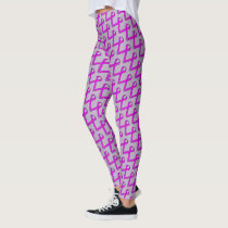 Purple Standard Ribbon by Kenneth Yoncich Leggings