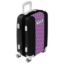 Purple Standard Ribbon by Kenneth Yoncich Luggage
