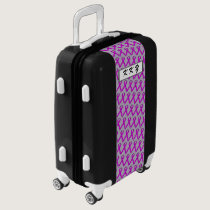 Purple Standard Ribbon by Kenneth Yoncich Luggage