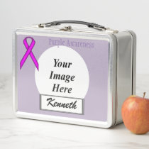Purple Standard Ribbon by Kenneth Yoncich Metal Lunch Box