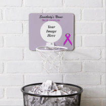 Purple Standard Ribbon by Kenneth Yoncich Mini Basketball Backboard