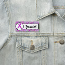 Purple Standard Ribbon by Kenneth Yoncich Name Tag