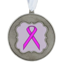 Purple Standard Ribbon by Kenneth Yoncich Ornament