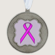 Purple Standard Ribbon by Kenneth Yoncich Ornament