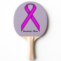 Purple Standard Ribbon by Kenneth Yoncich Ping-Pong Paddle
