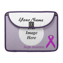 Purple Standard Ribbon by Kenneth Yoncich Sleeve For MacBook Pro