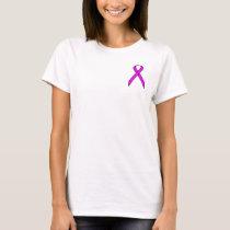 Purple Standard Ribbon by Kenneth Yoncich T-Shirt