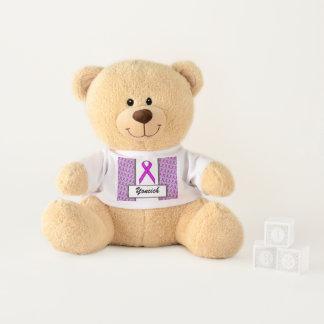 Purple Standard Ribbon by Kenneth Yoncich Teddy Bear