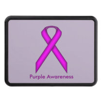 Purple Standard Ribbon by Kenneth Yoncich Tow Hitch Cover