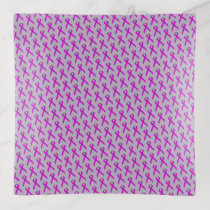 Purple Standard Ribbon by Kenneth Yoncich Trinket Trays