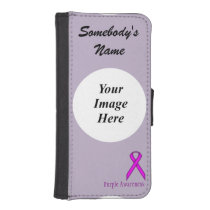 Purple Standard Ribbon by Kenneth Yoncich Wallet Phone Case For iPhone SE/5/5s
