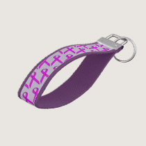 Purple Standard Ribbon by Kenneth Yoncich Wrist Keychain