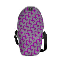 Purple Standard Ribbon Courier Bag