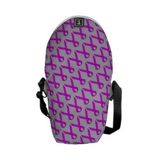 Purple Standard Ribbon Courier Bag
