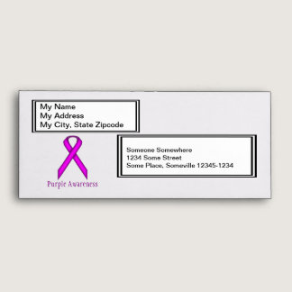 Purple Standard Ribbon Envelope