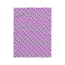 Purple Standard Ribbon Fleece Blanket