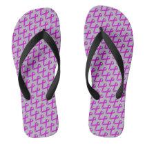 Purple Standard Ribbon Flip Flops