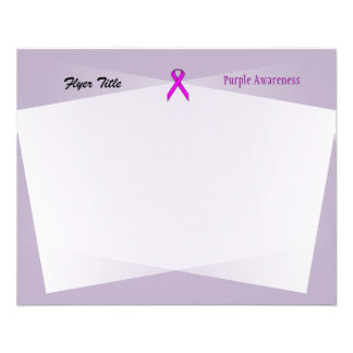 Purple Standard Ribbon Flyer