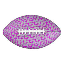 Purple Standard Ribbon Football
