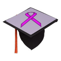 Purple Standard Ribbon Graduation Cap Topper