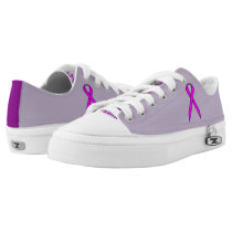 Purple Standard Ribbon Low-Top Sneakers