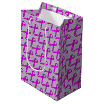 Purple Standard Ribbon Medium Gift Bag