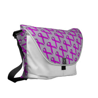 Purple Standard Ribbon Messenger Bag