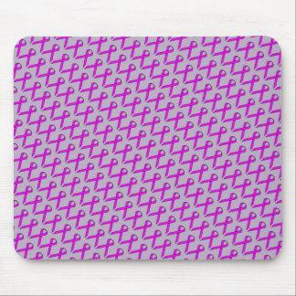 Purple Standard Ribbon Mouse Pad