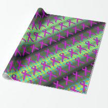 Purple Standard Ribbon Pattern Wrapping Paper