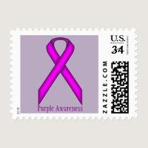 Purple Standard Ribbon Postage