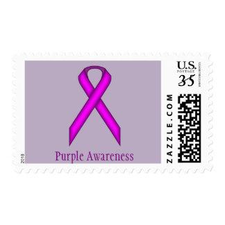 Purple Standard Ribbon Postage Stamps
