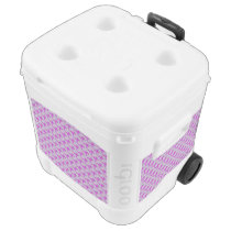 Purple Standard Ribbon Rolling Cooler