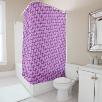 Purple Standard Ribbon Shower Curtain