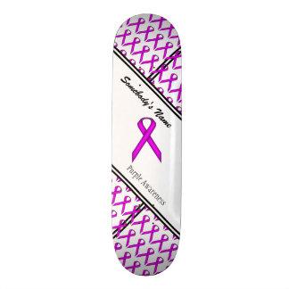 Purple Standard Ribbon Skateboard Deck