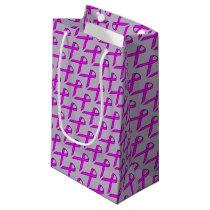 Purple Standard Ribbon Small Gift Bag