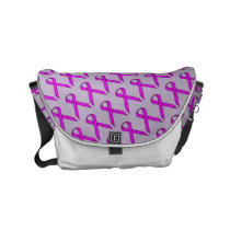 Purple Standard Ribbon Small Messenger Bag