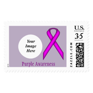 Purple Standard Ribbon Stamp